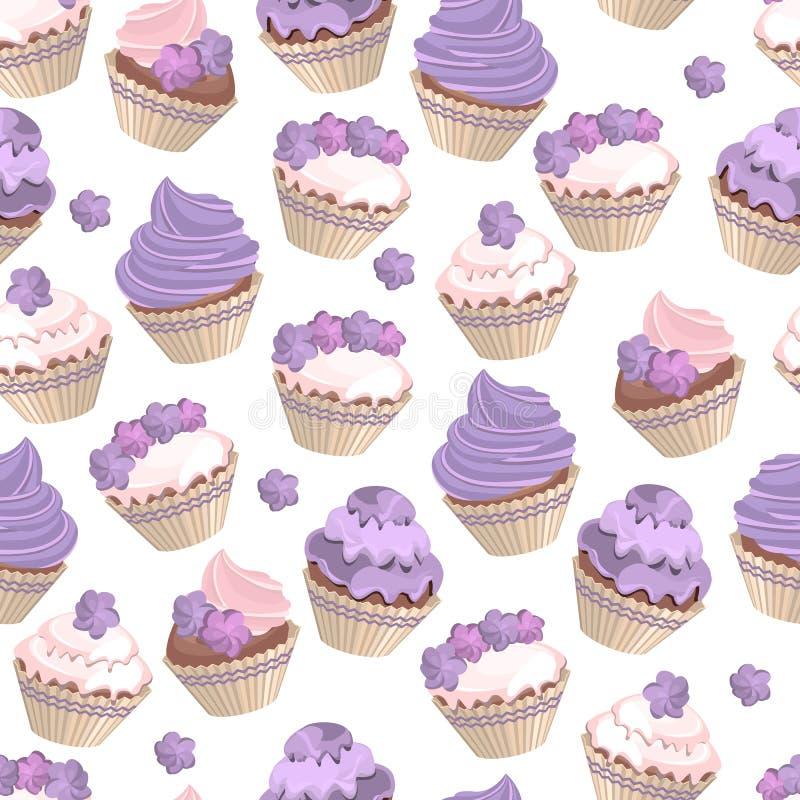 Reeks met verschillende cakes vector illustratie