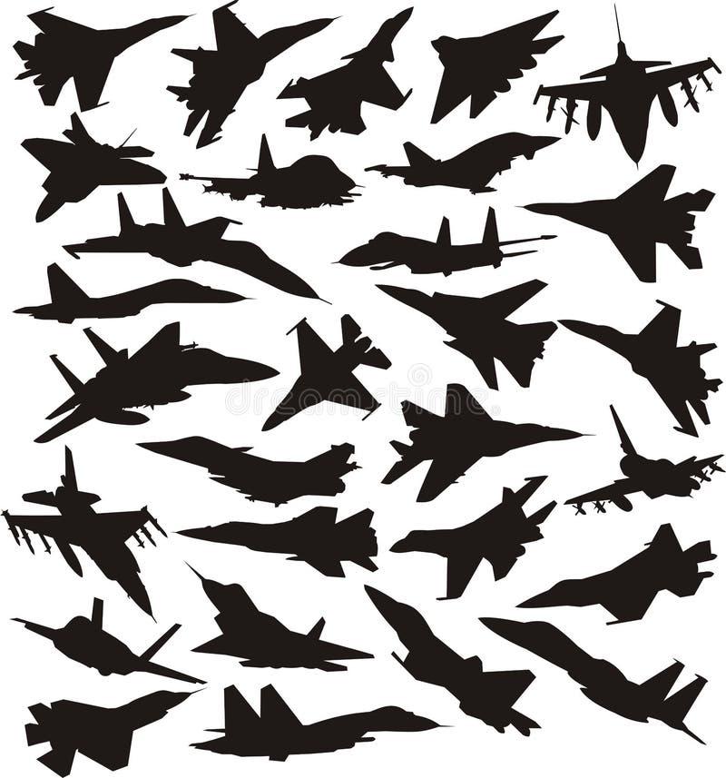 Reeks militaire stralen royalty-vrije illustratie