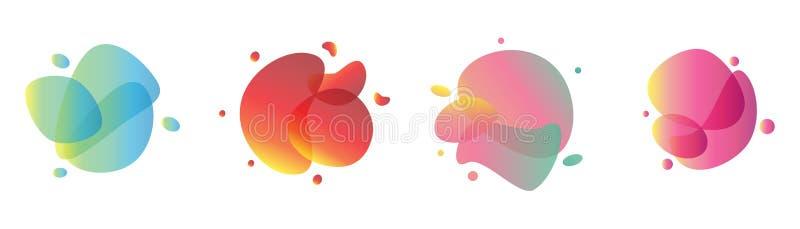 Reeks moderne abstracte gradiënt grafische vectorbanners met vloeibaar ontwerp royalty-vrije illustratie