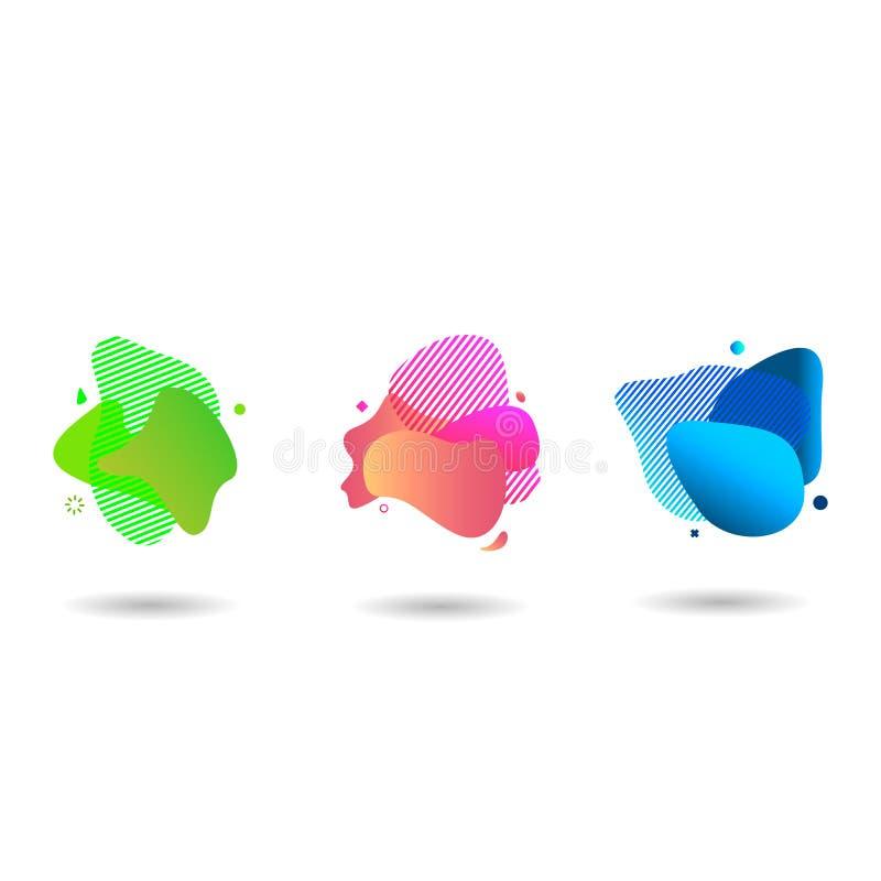Reeks moderne abstracte vectorbanners Vector illustratie vector illustratie