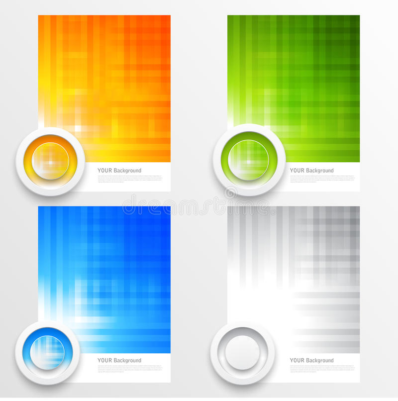Reeks moderne vectorbanners met lijnen royalty-vrije illustratie