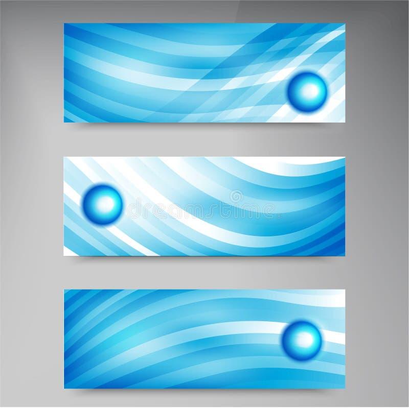Reeks moderne vectorbanners met lijnen vector illustratie