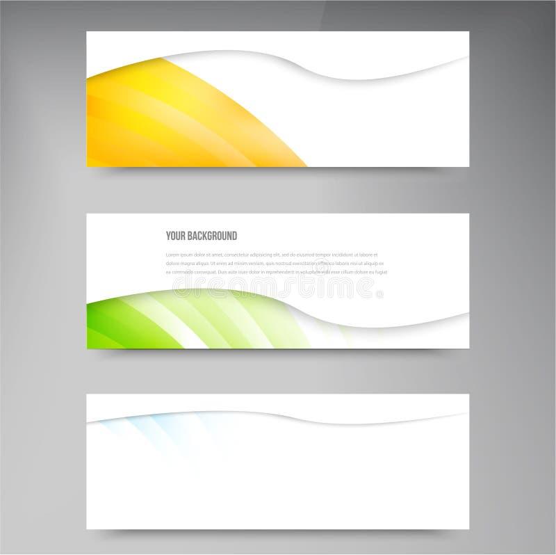 Reeks moderne vectorbanners met lijnen stock illustratie