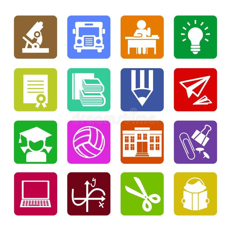 Reeks moderne vlakke pictogrammen van het ontwerpconcept voor Web of mobiele app royalty-vrije stock foto