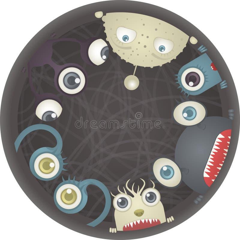 Reeks Monsters stock illustratie