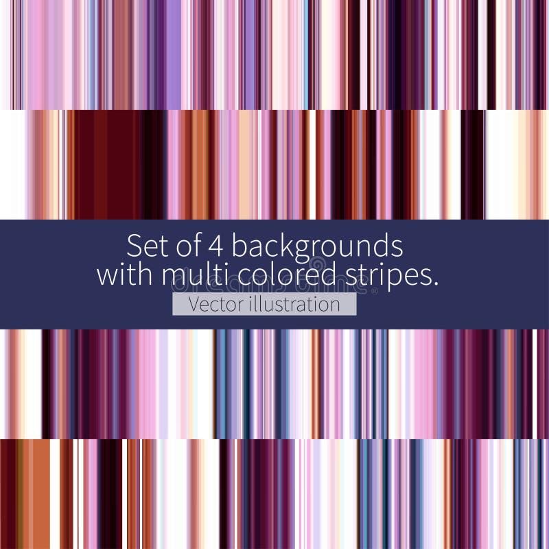 Reeks multi gekleurde strepen royalty-vrije stock afbeeldingen