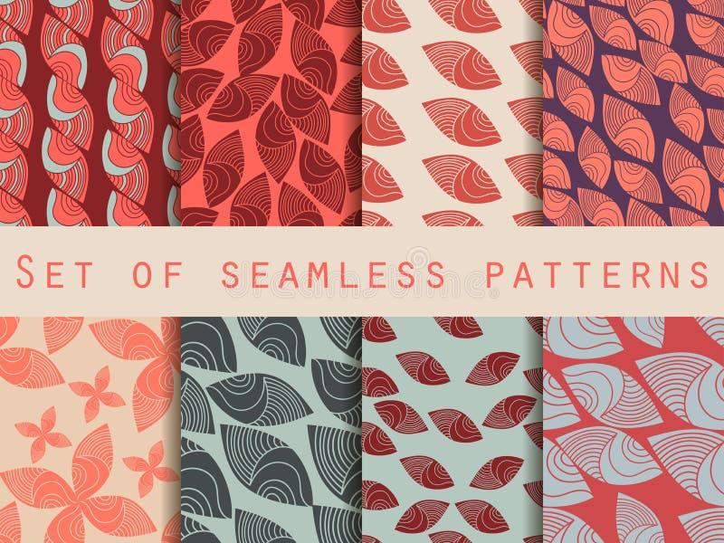 Reeks naadloze patronen in de Indische stijl Stammen etnische motieven vector illustratie