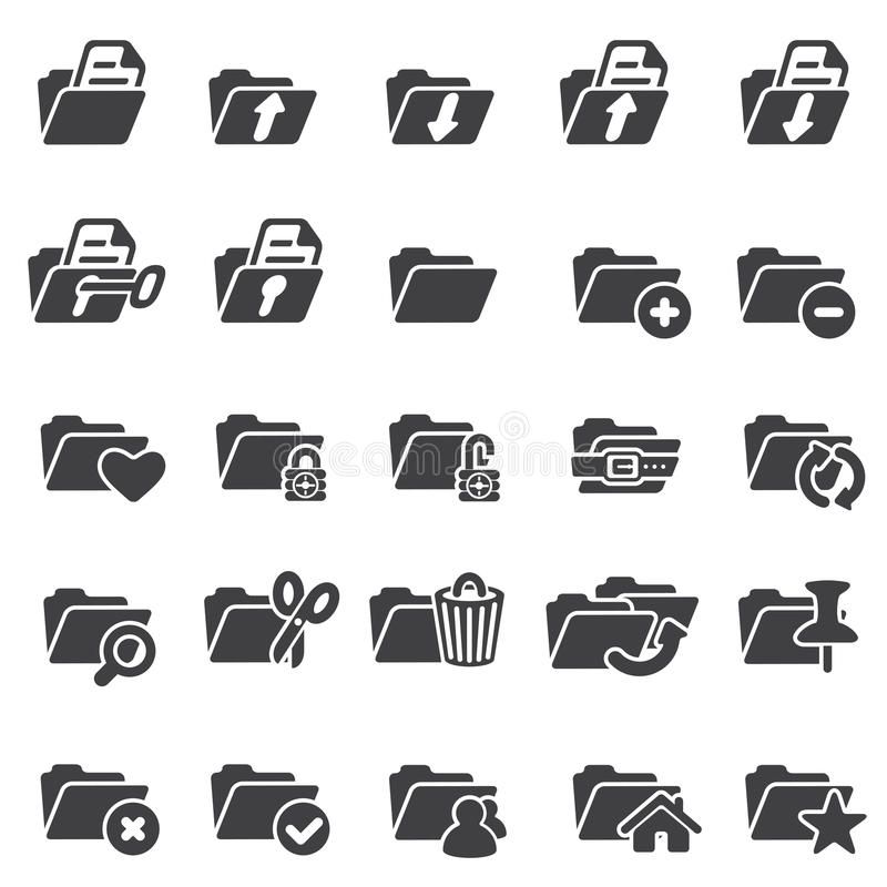 Reeks omslagpictogrammen vector illustratie