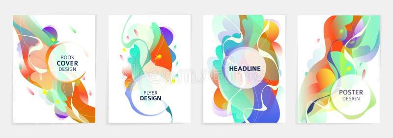 Reeks ontwerpen voor vlieger, broshure, de dekking van het boek, affiche, Web, jaarverslag royalty-vrije illustratie