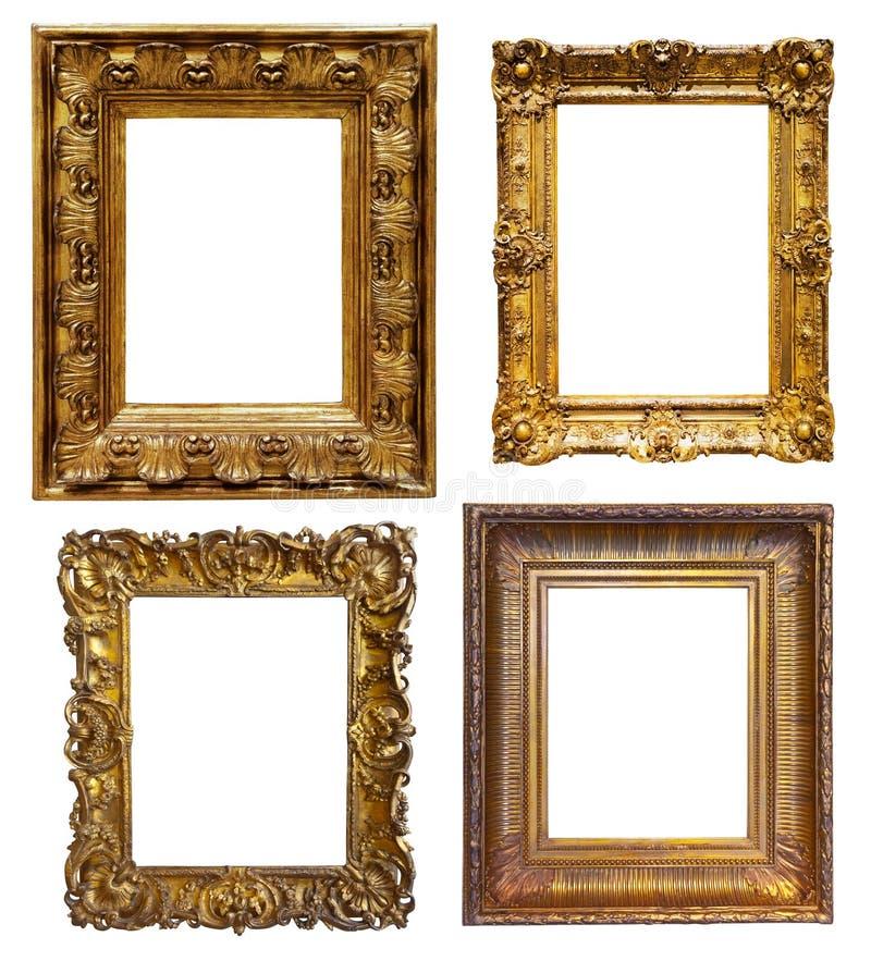 Reeks oude frames royalty-vrije stock foto
