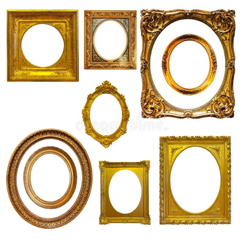 Reeks ovale omlijstingen royalty-vrije stock foto