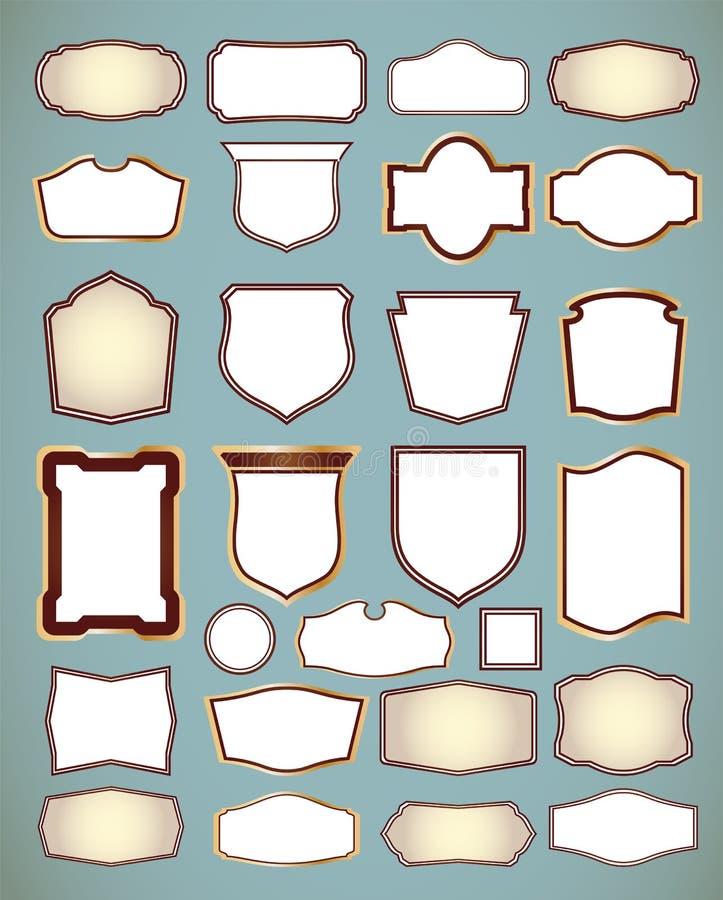 Reeks overladen frames. Vector illustratie stock illustratie