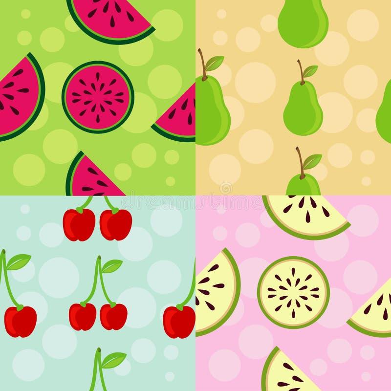 Reeks Patronen: Het Thema van het fruit stock illustratie