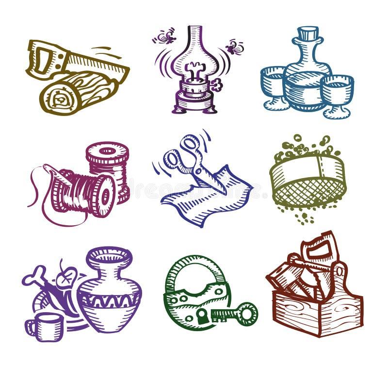 Reeks pictogrammen. stock illustratie