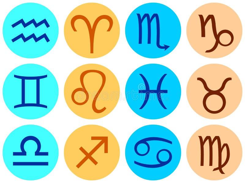 Reeks pictogrammen met tekens van de dierenriem vector illustratie