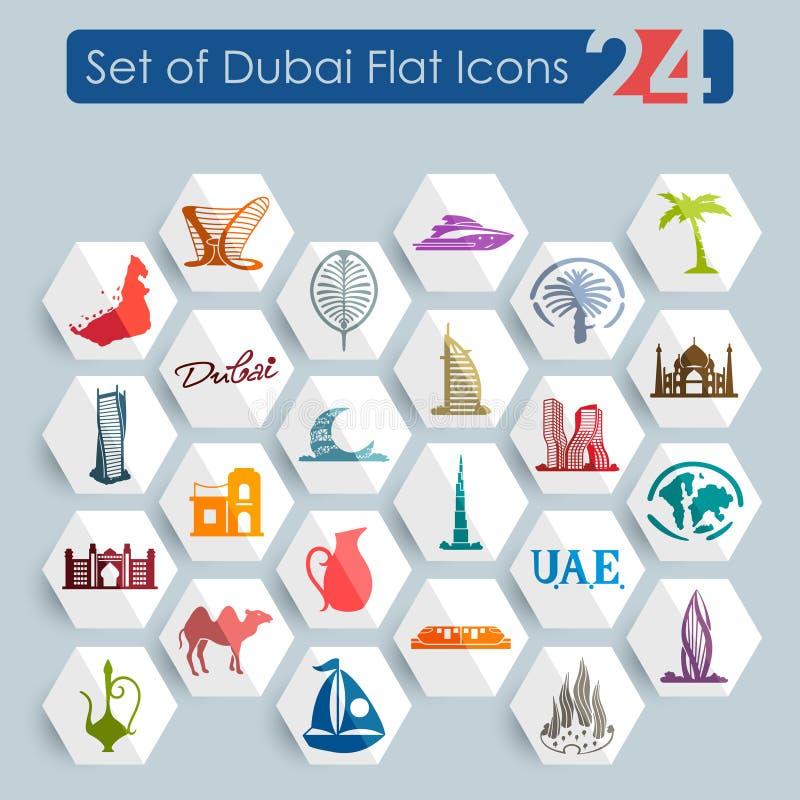 Reeks pictogrammen van Doubai stock illustratie