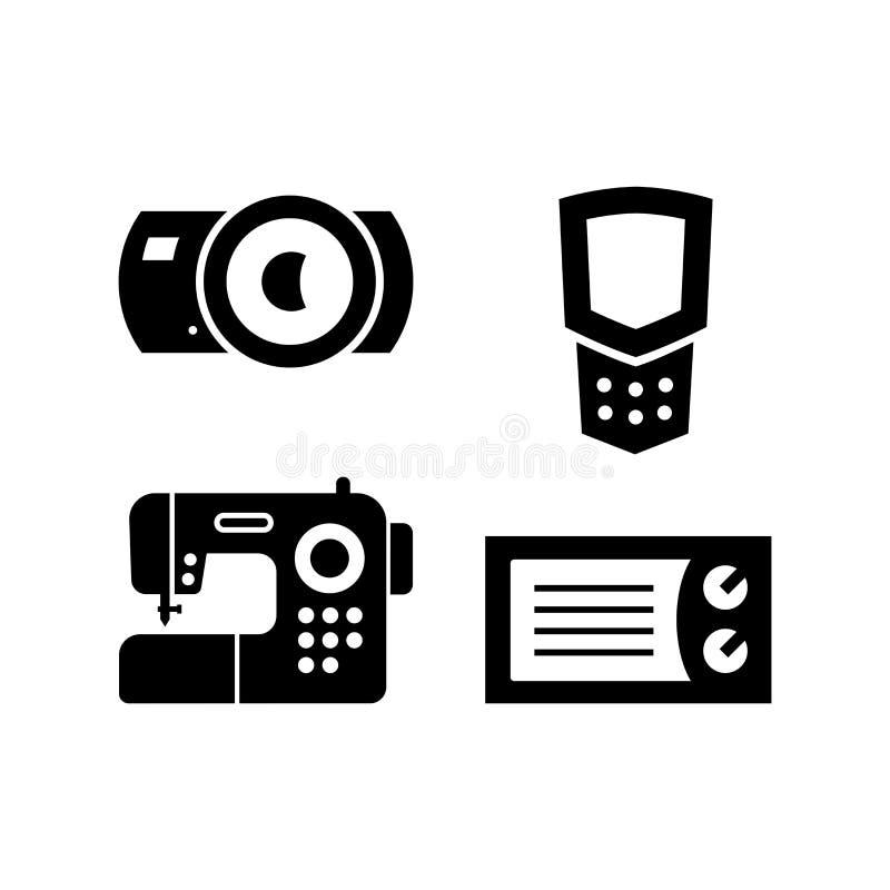 Reeks pictogrammen van huishoudenvoorwerpen royalty-vrije stock fotografie
