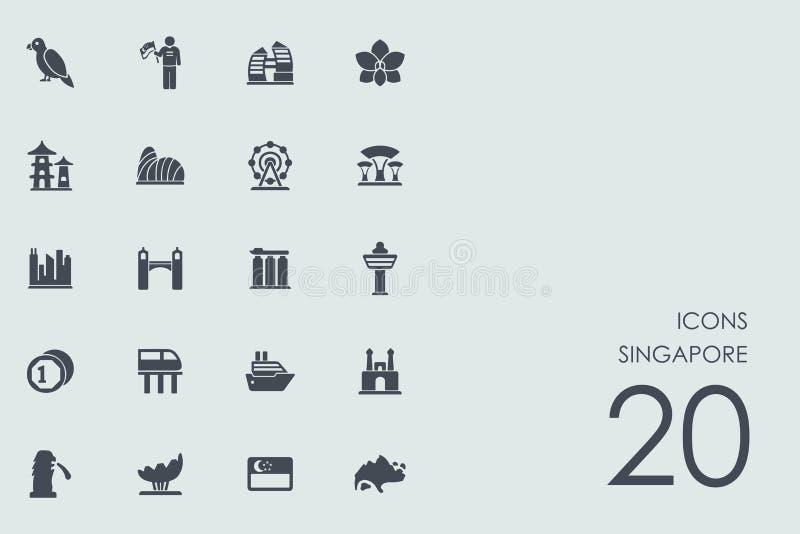 Reeks pictogrammen van Singapore royalty-vrije illustratie