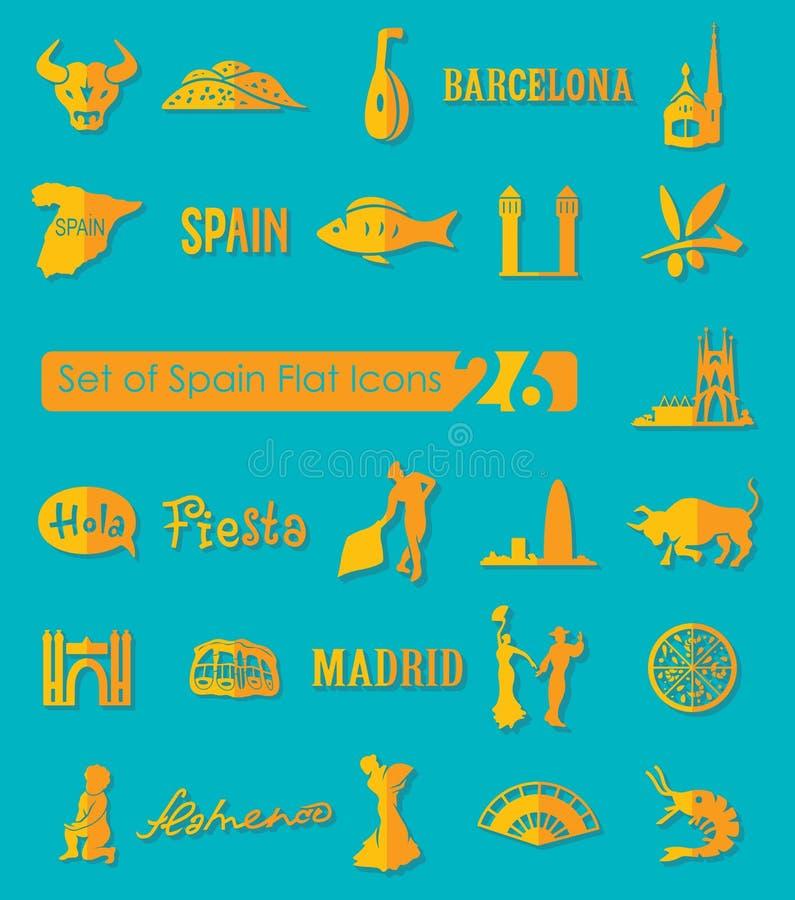 Reeks pictogrammen van Spanje royalty-vrije illustratie