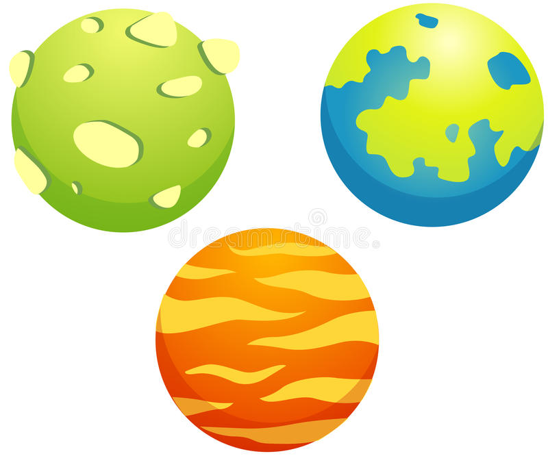 Reeks planeten stock illustratie