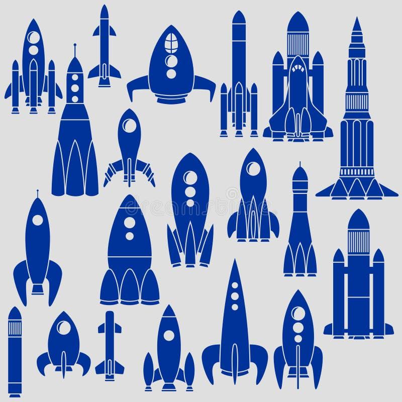 Reeks raketten royalty-vrije illustratie