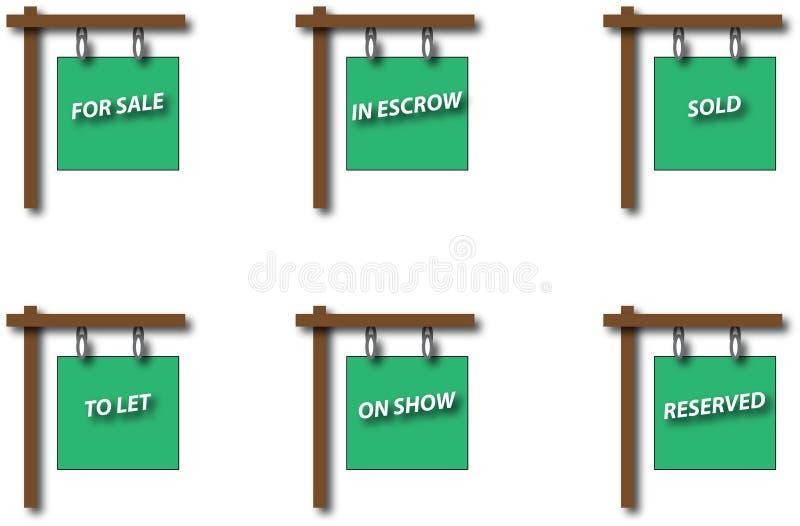 Reeks Real Estate-Tekenraad vector illustratie