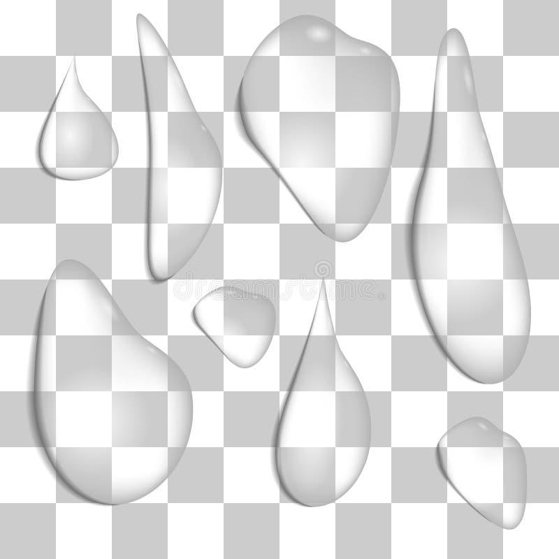 Reeks regendruppels stock illustratie