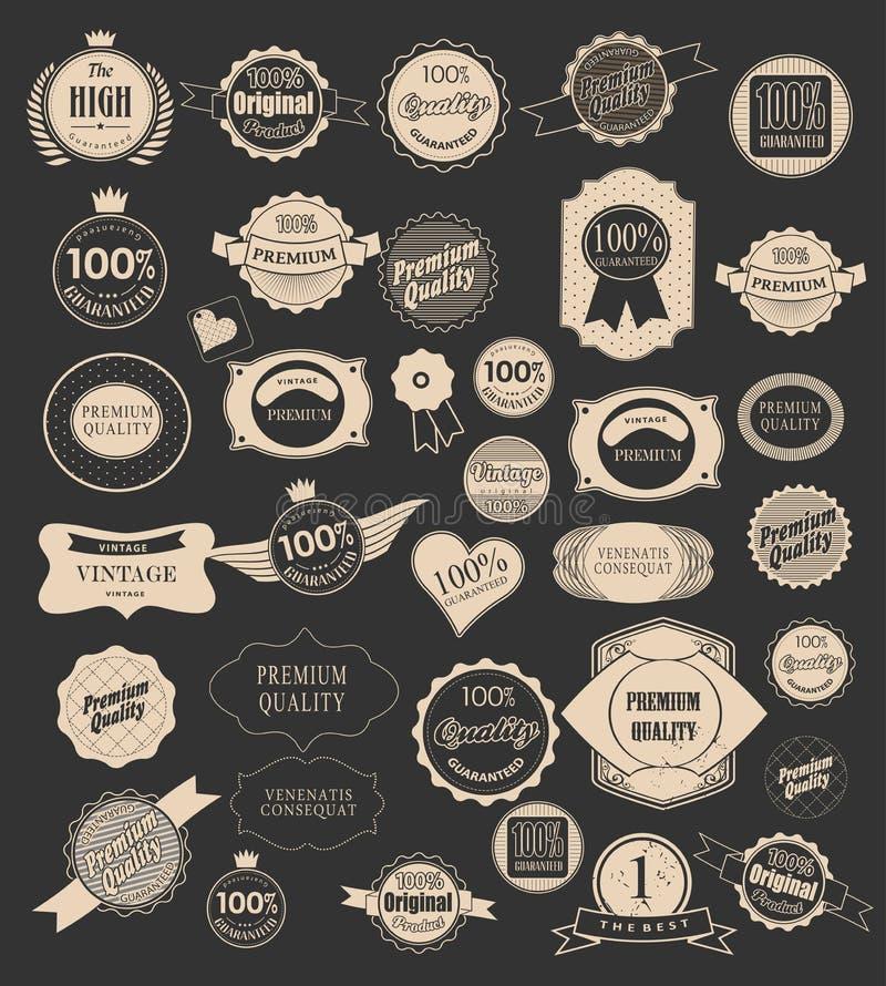 Reeks retro etiketten. Vectorillustratie. vector illustratie