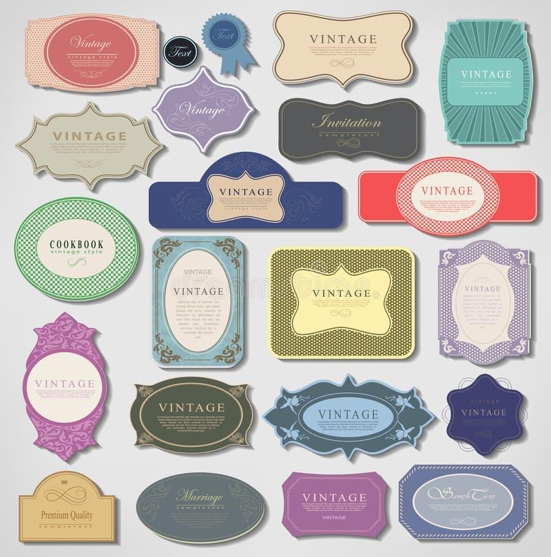 Reeks retro uitstekende etiketten. Vectorillustratie. vector illustratie