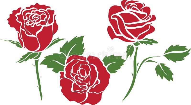 Reeks rozen vector illustratie
