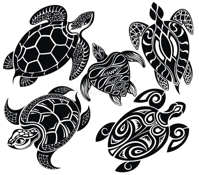 Reeks schildpadden royalty-vrije illustratie
