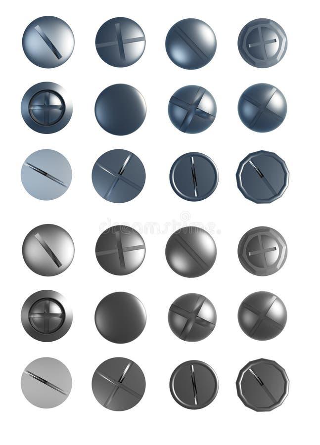 Reeks schroeven vector illustratie