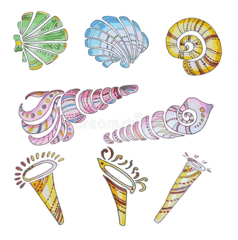 Reeks shells vector illustratie
