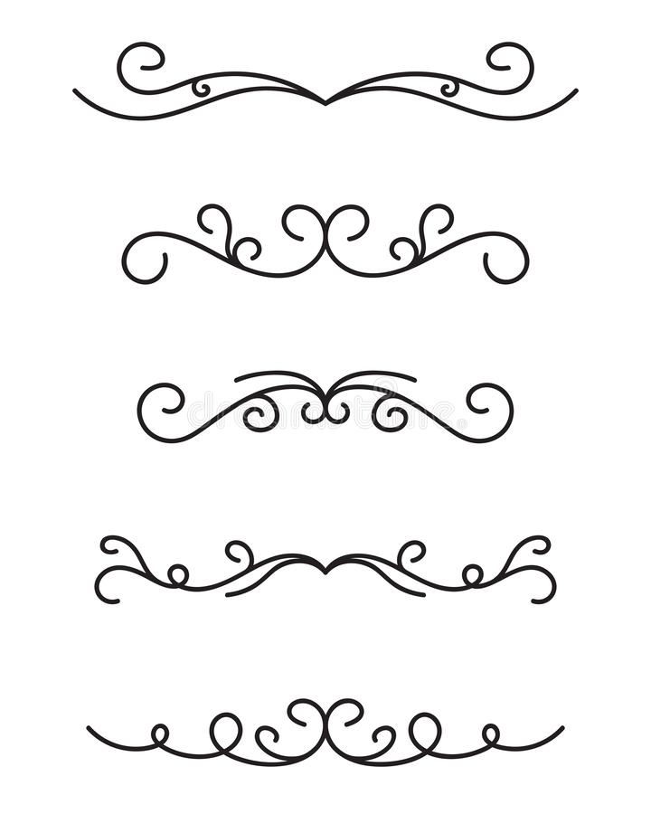 Reeks sier decoratieve elementen vector illustratie