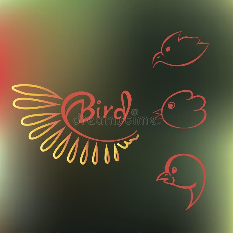 Reeks silhouetten van vogels royalty-vrije stock foto