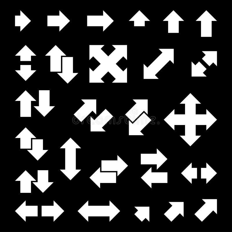 Reeks silhouettenpijlen vector illustratie