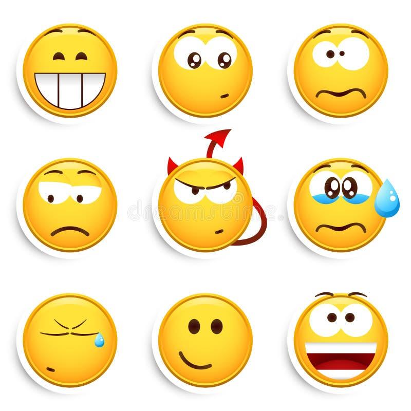 Reeks smileys stock illustratie