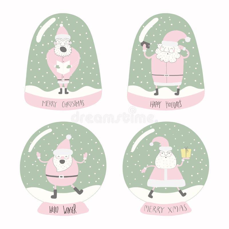 Reeks sneeuwbollen vector illustratie