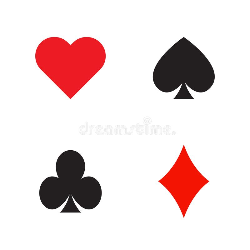 Reeks speelkaarten stock illustratie