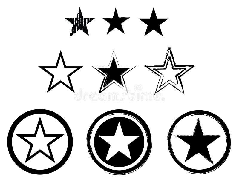 Reeks sterren royalty-vrije illustratie