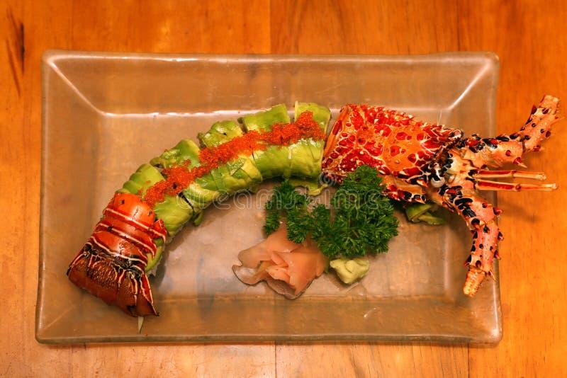 Reeks sushi royalty-vrije stock afbeelding