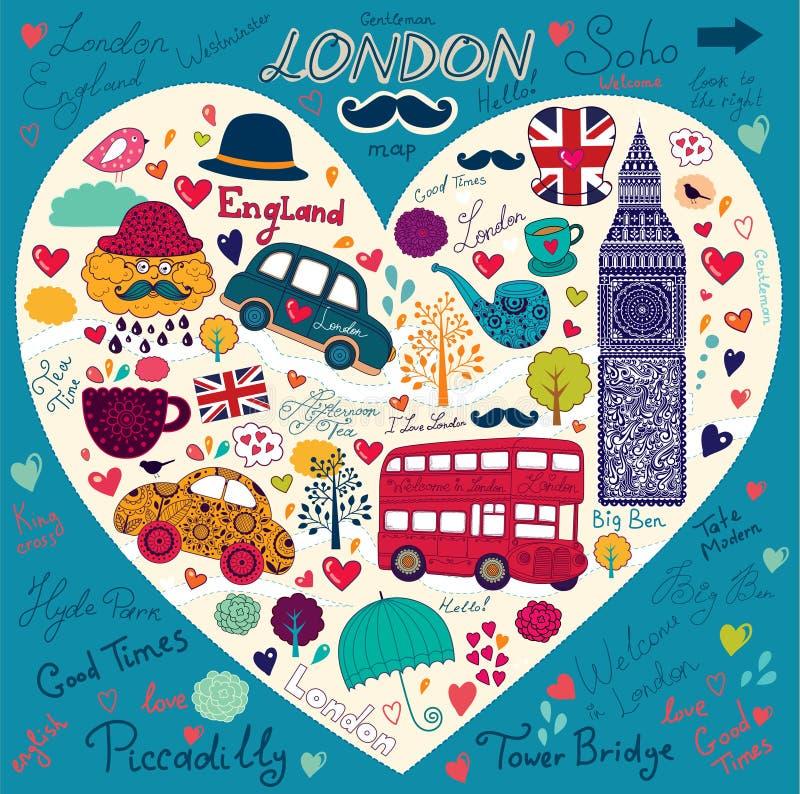 Reeks symbolen van Londen royalty-vrije illustratie