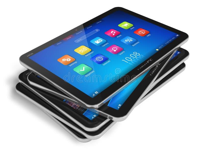 Reeks tabletcomputers royalty-vrije illustratie