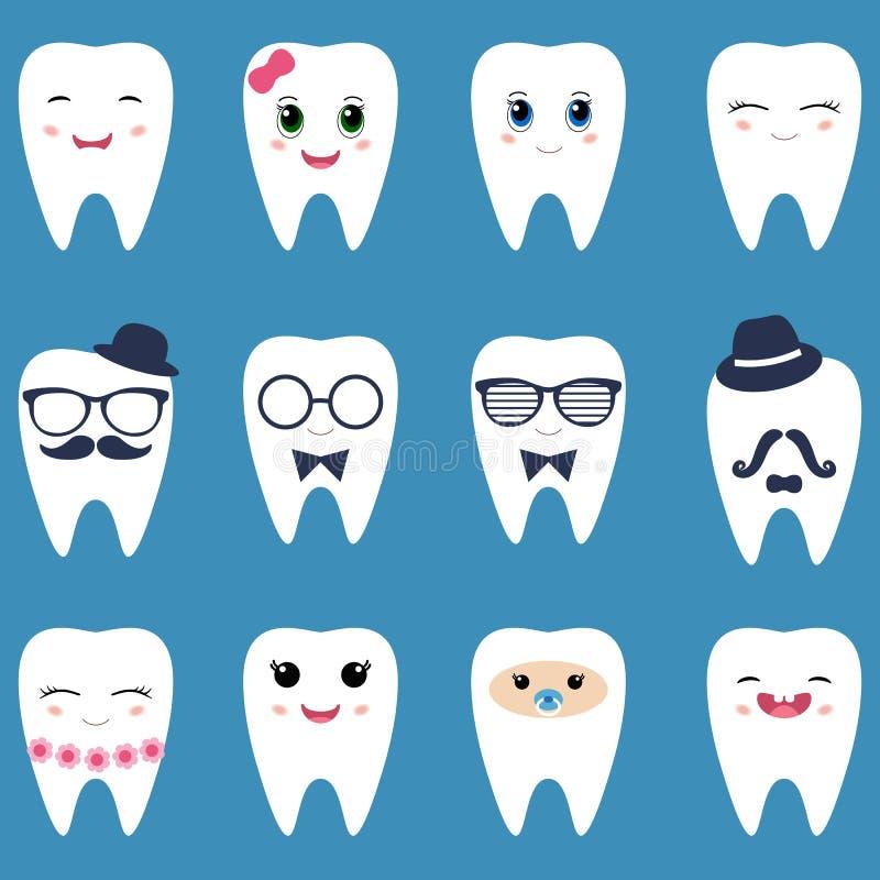 Reeks tanden stock illustratie