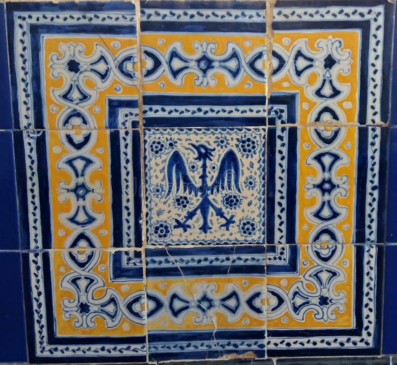 Reeks tegels die de muur van een paleis verfraaien royalty-vrije stock afbeeldingen