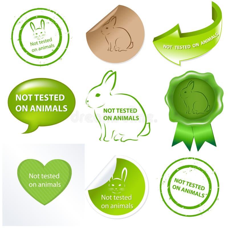 Reeks tegen het Testen voor Dieren vector illustratie
