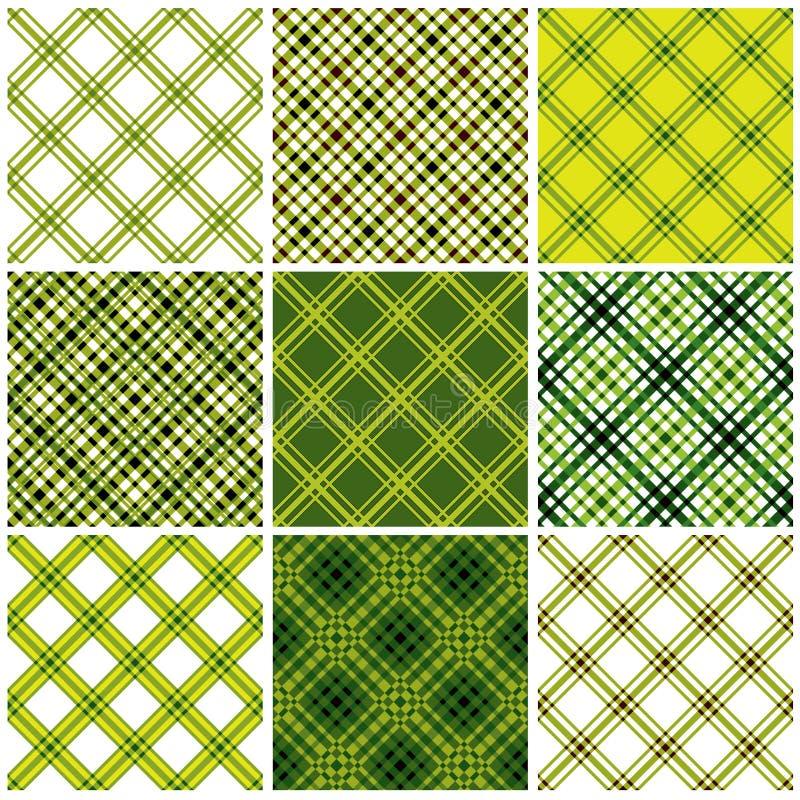 Reeks textiel naadloze patronen. vector illustratie