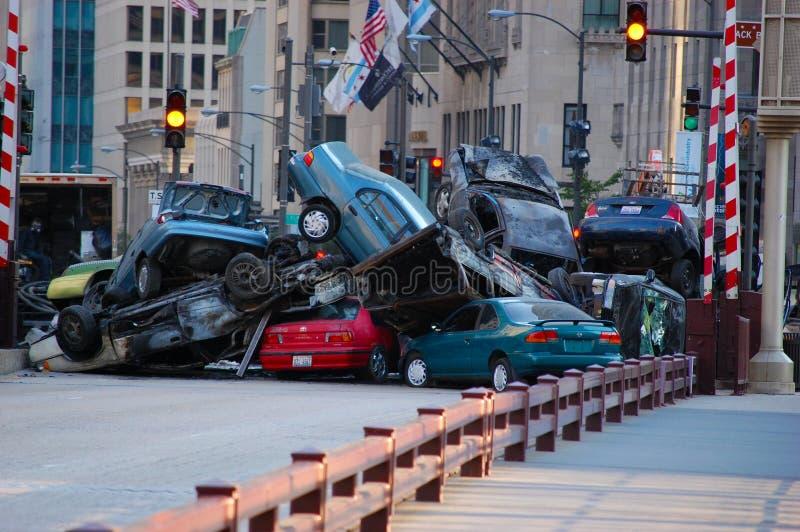 Reeks Transformatoren 3 in Chicago Van de binnenstad, IL stock afbeelding