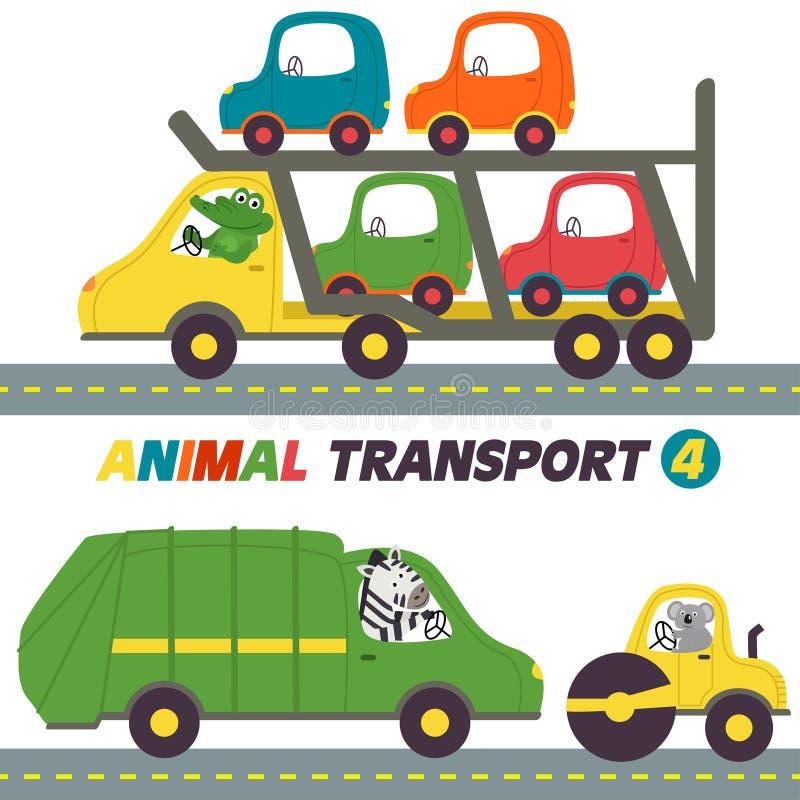 Reeks transporten met dierendeel 4 royalty-vrije illustratie