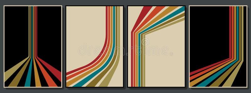 Reeks Uitstekende Achtergronden van de jaren '70 stock illustratie